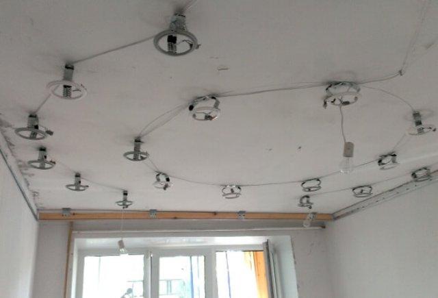 Монтаж и подключение точечных светильников в натяжной и пластиковый потолок