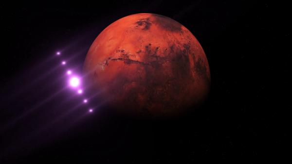 Житель Америки заметил НЛО, летящий к Марсу