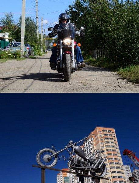 В Ростове появился монумент байкерам