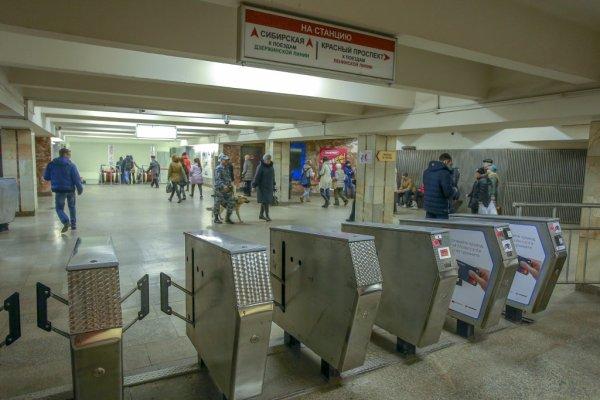 В метро Новосибирска ездила девушка в трусиках