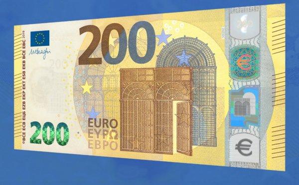 Центробанк ЕС представил новые банкноты в 100 и 200 евро