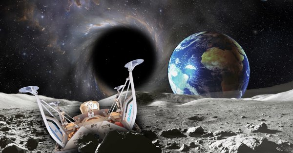 «С Днём Космонавтики!»: Огромная чёрная дыра в центре галактики начала всасывать Землю и крушить луноходы