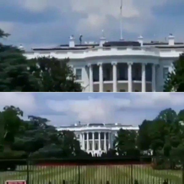Спецслужбы проворонили пришельца: На крыше Белого дома засняли диверсанта с Нибиру