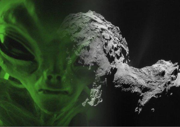 Вышли на связь: На комете Чурюмова-Герасименко обнаружили послание пришельцев