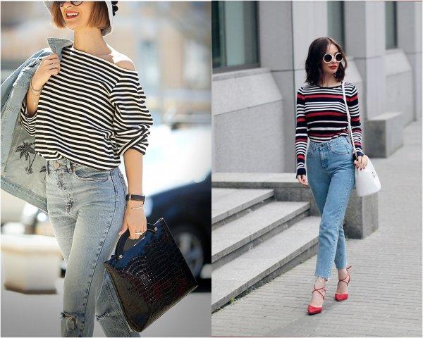 Не футболкой единой: 7 образов с джинсами мом, покорившие сеть