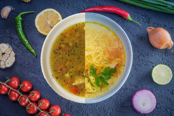 Суп будет безнадежно испорчен, если варить его на ребрах
