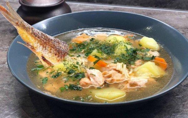 Уха два-в-одном: Классический бульон и жареная рыба в одной кастрюле